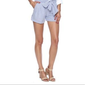 Lauren James Seersucker Bow Shorts